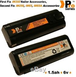 10 x replacement batteries 1.5ah (pro-series) for Cordless Paslode im350/250