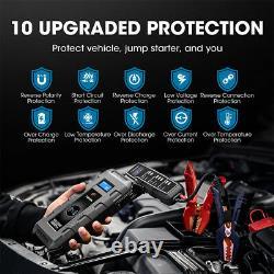 2021NEW TOPDON Car Jump Starter Pack Booster Battery Charger Power Bank 20800mAH
