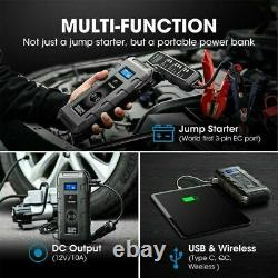 2021 20800mAh 12V Car Jump Starter USB Battery Power Booster Charger Rescue Pack