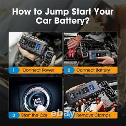 2021 NEW 20800mAh Car Jump Starter Pack Booster Battery Charger Power Bank 2000A