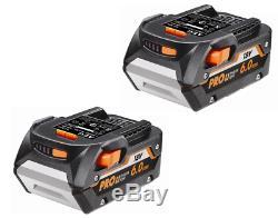 2 Pack Genuine AEG L1860R 18V Pro 6.0Ah 108Wh Hyper Li-ion Battery