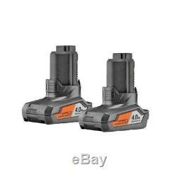 2 Pack Genuine Aeg L1240 Compact 12 V4,0ah SUV PRO Li-Ion Battery 4Ah