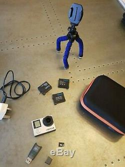 64GB Go Pro Hero 4 + 3 Batteries, Waterproof Case, Chest Mount, Charger, Tripod