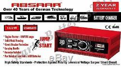 ABSAAR HD Professional Battery Charger 30AMP 12V / 24V & 250Amp Jump Starter
