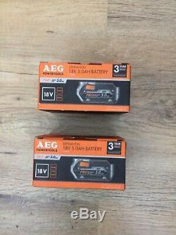 AEG 18v L1850R genuine Pro 5.0Ah 90Wh Hyper Lithium-ion Battery x2