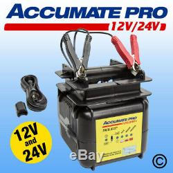 AccuMate PRO 12V 24V Smart Battery Charger Maintainer