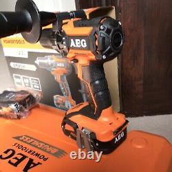 Aeg Pro 18v Brushless Hammer Drill Kit 2 Pro Lithium Ion Batterys & Charger &