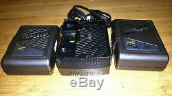 Anton Bauer Twin Gold Mount Battery Charger & Two Pro Video HC Dionic Batteries