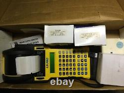 BRADY- ID PRO Wire Marker Printer 2 Rolls Printer Paper, Extra Battery & Charger