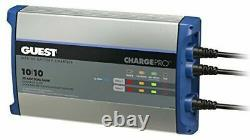 BRAND NEW Guest On-Board Battery Charger 20A / 12/24V 2 Bank 120V Input 2720A