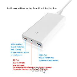 BatPower 26800mAh External Battery Power Bank for Apple Macbook Pro Air 062015