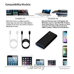 BatPower USB C Portable Charger External Battery Power Bank fr Apple Macbook Pro