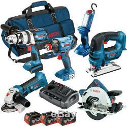 Bosch 0615990L1M 18V 6 Piece Professional Kit 3 x 4.0Ah Batteries Charger & Bag