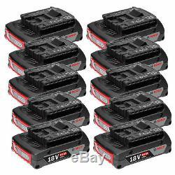 Bosch 10er-Pack Akku GBA 18 Volt 2,0 Ah Professional Systemzubehör