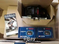 Bosch BAG+PROFESSIONAL CORDLESS KIT. 2 X 18V 3 AH BATTERYS BLACK EDITION