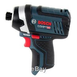 Bosch GDR 12V-105 12V Professional Impact Driver + 2 x 2Ah Batteries & Charger