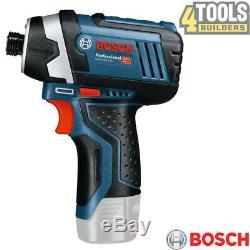 Bosch GDR 12V-105 12V Professional Impact Driver + 2 x 2.0Ah Batteries & Charger