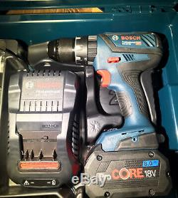 Bosch GSB 18V-28 Combi Drill 1 x 8.0Ah Pro Core Battery, Fast Charger and L-boxx