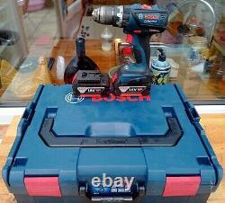 Bosch GSB 18 V-EC Professional Brushless Drill 2x4.0Ah Batts Charger & L-Box