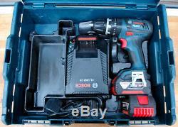 Bosch GSB 18 V-LI Professional Cordless Drill Driver 2x4.0Ah Batteries L-Box
