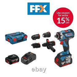 Bosch GSR18V-60FCCSet 18v 2x5.0Ah Li-ion Professional FlexiClick Drill Driver