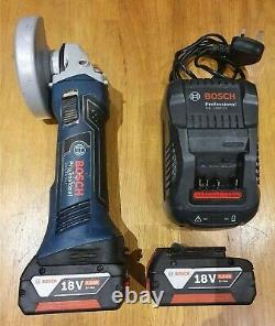 Bosch GWS 18 V-LI Professional Cordless Angle Grinder with Batteries & Charger