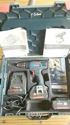 Bosch Gsb 18-2-li Plus 18v Professional Combi Drill 2x Battery, Charger And Case