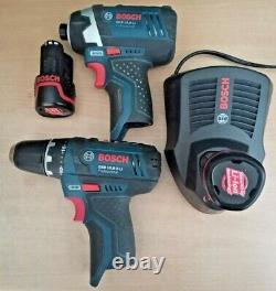 Bosch Pro10.8V GSR 10.8-2-LI Impact Drill + GDR 10,8-LI Impact Driver +Charger