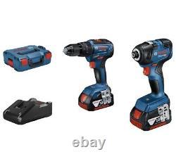 Bosch Professional 18V Drill Twin Pack GSB 18V-55 + GDR 18V-200 + 2 x 3AH