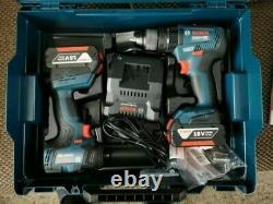 Bosch Professional 18 V Cordless Drill Set GSB 18 V-55 + GDR 18V-200 + 2 x 3AH
