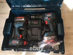 Bosch Professional GDX 18V-200 GSB 18V-55 Charger & 2 4.0Ah Batteries L Boxx