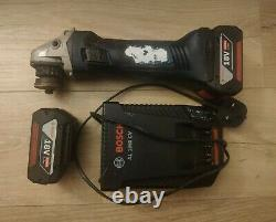Bosch Professional GWS 18v LI Grinder +2x4,0AH BATTERIES + Charger