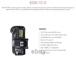 Canon EOS 1DX 18.1MP Pro DSLR body, 52K shutter count, with battery & charger
