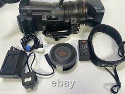 Canon XF305 Professional Camcorder kit with wide angle lens, battery, charger