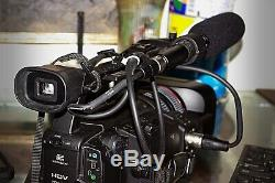 Canon XH A1 with charger, boom mic and 2 batteries