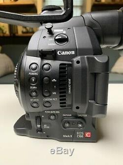 Canon c100 Mark ii With Original Box, Battery, Charger, Accessory Arm, MINT
