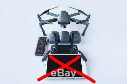 DJI Mavic Pro 4K HD Drone 4 Batteries and Charger Hub and ND Filters