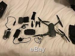 DJI Mavic Pro 4k Drone Quadcopter 2x Batteries, Multi Charger + Car Charger