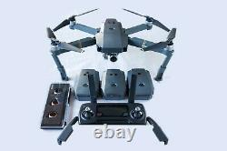 DJI Mavic Pro 4k Quadcopter Drone, 3 BATTERIES ONLY, multi charger, ND filters
