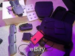 DJI Mavic Pro Drone Bundle x4 batteries 4 way charger bags, case nd filters