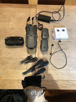 DJI Mavic Pro Drone with three batteries, case & charger, Spare Blades, Filters