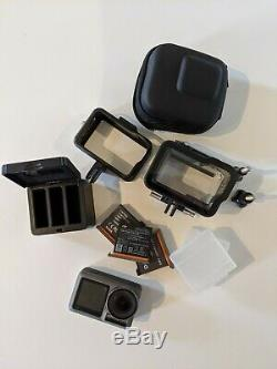 DJI Osmo Action Camera 4K 3 batteries underwater case VGC charger GoPro Go Pro