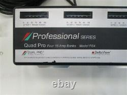 Dual Pro Professional Series Ps4 Battery Charger 4 Bank 02-22-16 Marine Boat