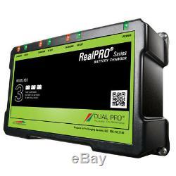 Dual Pro RealPRO Series Battery Charger 18A 3-6A-Banks 12V-36V