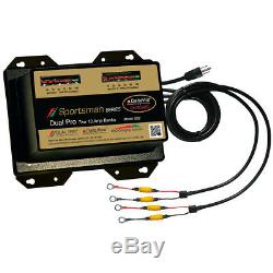 Dual Pro Sportsman Series Battery Charger 20A 2-10A-Banks 12V/24V