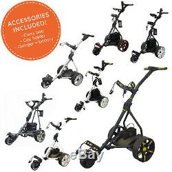 Electric Golf Trolley 36 Hole Battery & Charger Folding Frame by Pro Rider