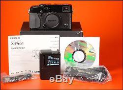 FUJIFILM X-Pro1 Mirrorless Digital Fuji Camera With Battery, Charger, Manual Box