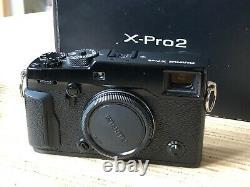 Fujifilm X-Pro2 Camera Body Box, Strap, Battery/Charger Fuji XPRO2 Black