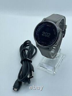 Garmin Fenix 6S Pro Solar Grey Band Smartwatch Charger Strap GPS 42mm Music