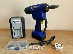 Gesipa PowerBird Pro Gold Edition Cordless Rivet Gun Tool With Battery & Charger